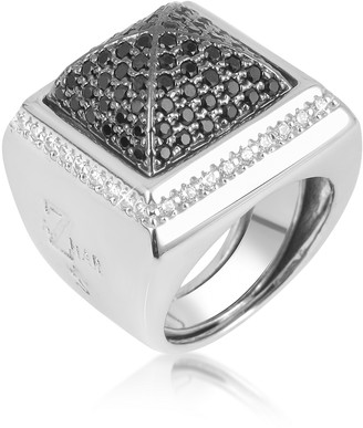 Ileana Creations Azhar Black Cubic Zirconia Square Ring