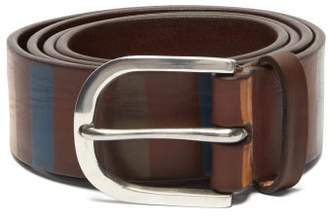 Paul Smith Striped Leather Belt - Mens - Multi