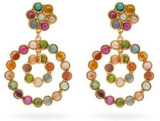 Sylvia Toledano - Beaded Circular Drop Earrings - Womens - Multi