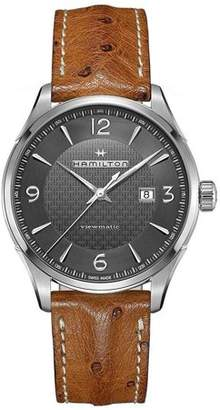 Hamilton Men's 44mm Brown Leather Band Steel Case Sapphire Crystal Automatic Black Dial Watch H32755851