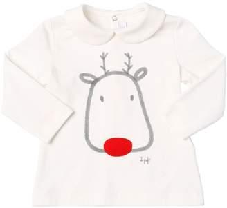 Il Gufo Reindeer Printed Cotton Jersey T-Shirt