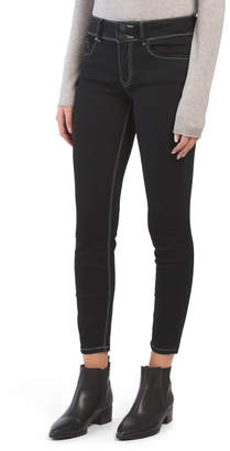 Juniors Contrast Stitch Denim Jeans