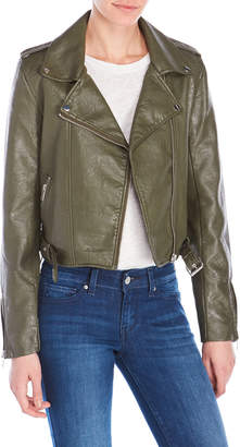 Romeo & Juliet Couture Romeo + Juliet Couture Faux Leather Moto Jacket