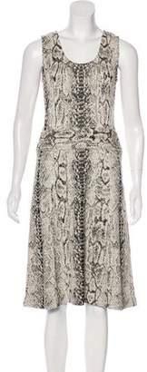St. John Knit Midi Dress