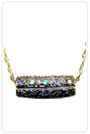 Maya Brenner Diamond in the Rough Barrel Necklace