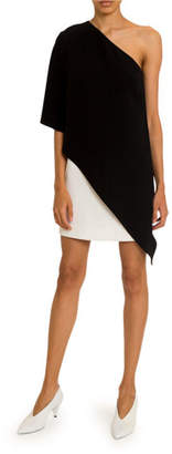 Givenchy Two-Tone One-Shoulder Cocktail Dress