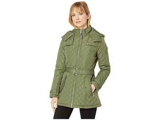 Tommy Hilfiger Belted Quilted Coat Women's Coat