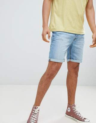 Jack and Jones Denim Shorts In Light Blue Denim