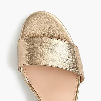 J.Crew Strappy block-heel sandals (60mm) in metallic gold leather