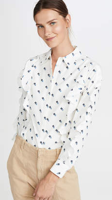 Scotch & Soda Clean Cotton Ruffled Top