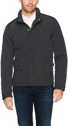 Scotch & Soda Men's Classic Lightweight Padded Jacket with Diamond Quilting, L