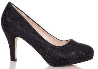 3eec2394f5c Glitter Mid Heel Court Shoes - ShopStyle UK