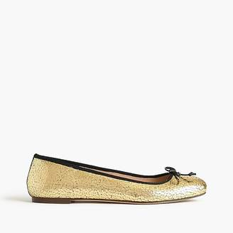 Lily ballet flats in crackled leather $138 thestylecure.com