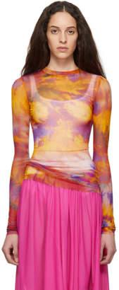 MSGM Multicolor Tie-Dye Long Sleeve T-Shirt