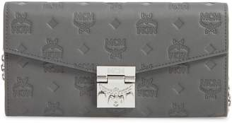 MCM Patricia Monogram Leather Wallet on a Chain