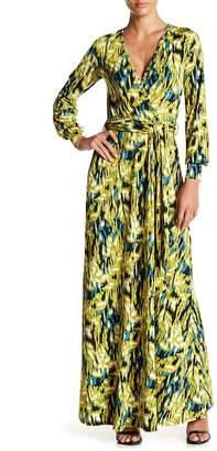 American Twist Long Sleeve Surplice Maxi Dress