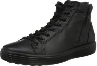 Ecco Shoes Men's Soft 7 Zip Hightop Fashion Sneakers