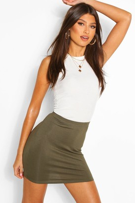 boohoo Maisy Basic Jersey Mini Skirt