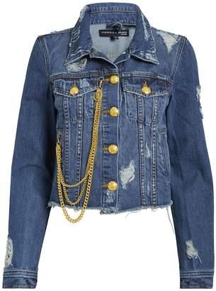 Veronica Beard Cara Chain Detail Denim Jacket