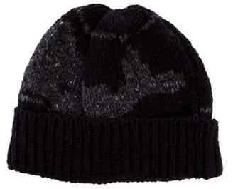 Thom Browne Patterned Wool Beanie
