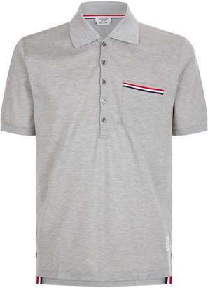 Thom Browne Three Stripe Polo Shirt