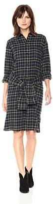 Vince Women's Multi Plaid Tie Front Dress