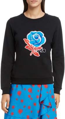 Kenzo Floral Embroidered Sweatshirt