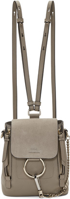 Chloé Grey Small Faye Backpack $1,450 thestylecure.com
