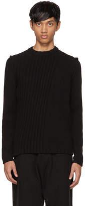 Isabel Benenato Black Alpaca Sweater