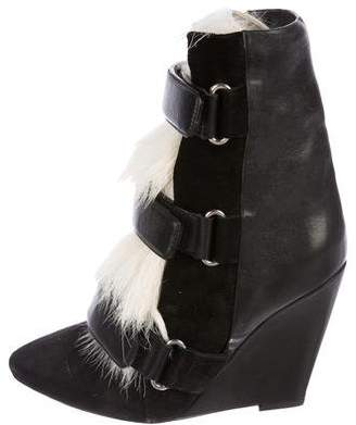Isabel Marant Over Goat Wedge Booties w/ Tags