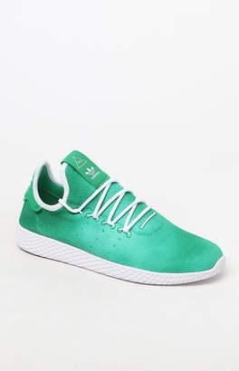 adidas x Pharrell Williams Hu Holi Green Tennis Shoes