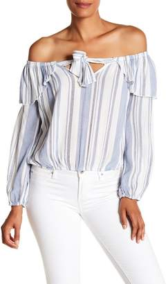 Vintage Havana Ruffle Off The Shoulder Top