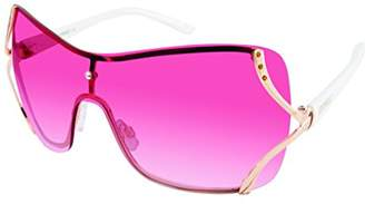 Southpole Women's 454sp-Rgld Shield Sunglasses