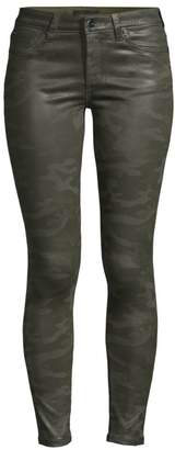 Joe's Jeans Icon High-Rise Coated Camo Ankle Skinny Jeans