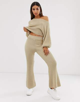 Asos Design DESIGN ribbed co-ord trousers