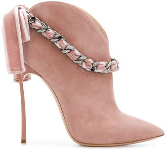 Casadei chain embellished boots