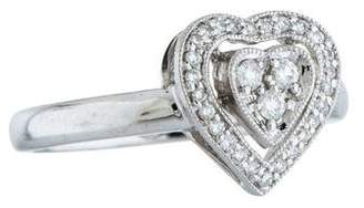 Ring 14K Diamond Heart