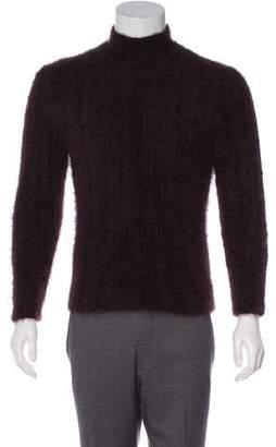 Gucci 1997 Angora Mock Neck Sweater