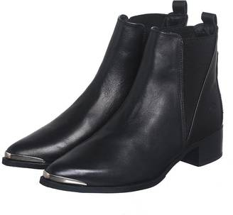 Bronx Black Leather Booties $372 thestylecure.com