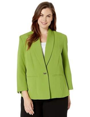 Kasper Women's 1 Button Stretch Crepe Jacket