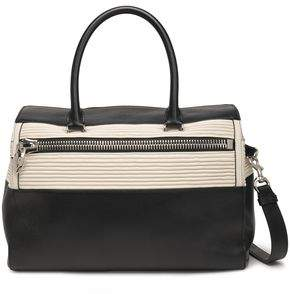 Elena Ghisellini Two-tone Quilted And Textured-leather Shoulder Bag
