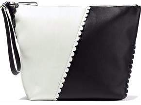 Diane von Furstenberg Origami Two-Tone Leather Pouch