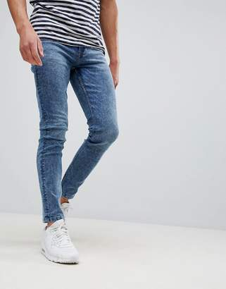 ONLY & SONS skinny washed blue jeans
