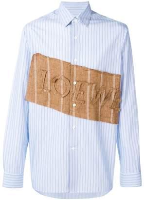 Loewe logo patch shirt