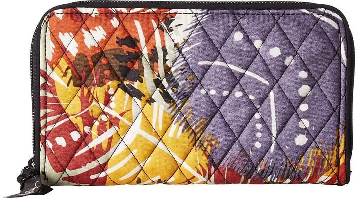 Vera Bradley Accordion Wallet Wallet Handbags - PAINTED FEATHERS - STYLE