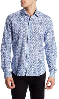 Culturata Long Sleeve Floral Print Contemporary Fit Woven Shirt