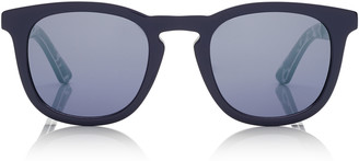 Jimmy Choo BEN Blue Wayfare Sunglasses with Light Grey Mirror Lenses