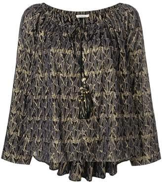 Mes Demoiselles metallic patterned blouse