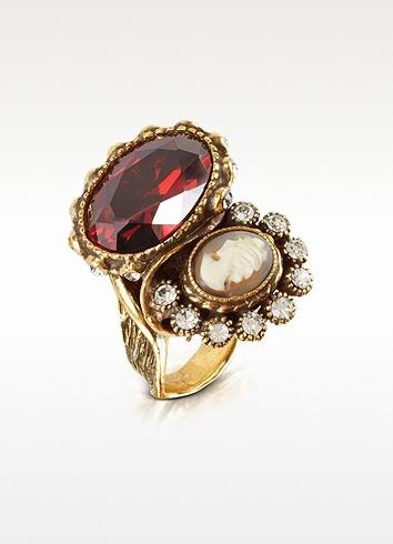 Alcozer & J Cameo Brass Ring