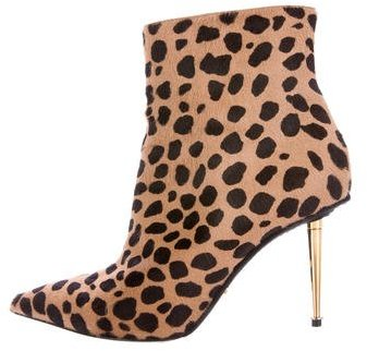 Tom Ford Ponyhair Pointed-Toe Booties